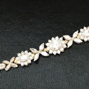 Gorgeous sterling CZ bracelet